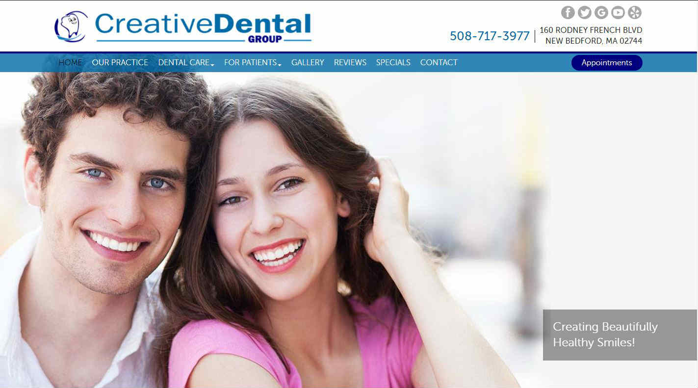Creative Dental Homepage